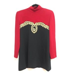 St. John Collection tunic length knit sweater S